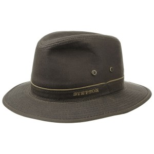 Reisehut Avasun-Waxed-Cotton-Traveller-by-Stetson-dunkelbraun.35490_f17